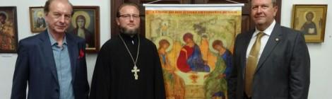 Выставка православных икон в Бразильской академии философии