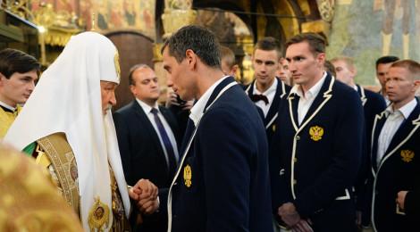 Святейший Патриарх Кирилл совершил молебен перед отъездом Олимпийской сборной России на XXXI летнюю Олимпиаду