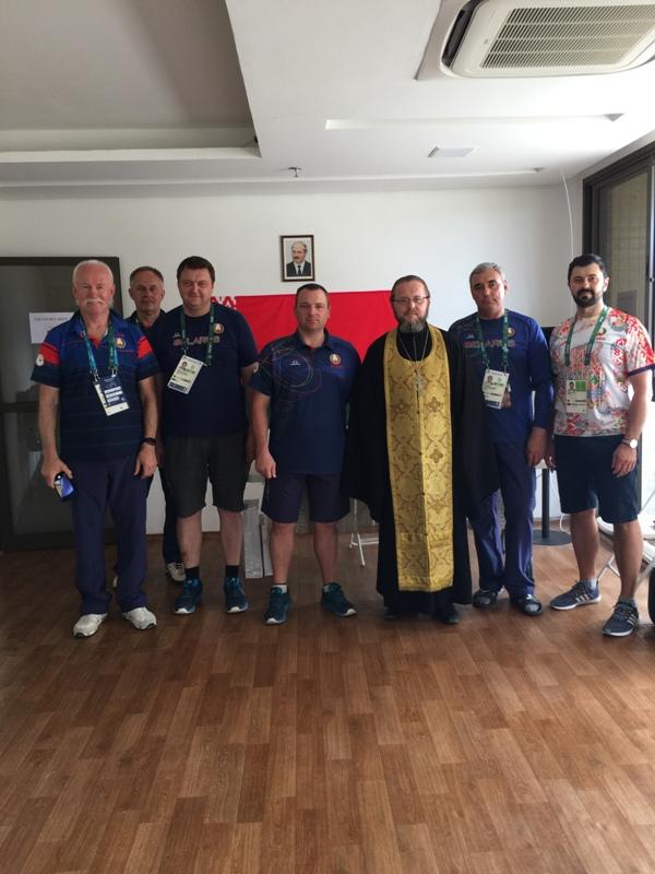 Молебен. Белорусская сборная Олимпиады Рио 2016