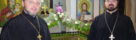 клирики церкви Святой Зинаиды приняли участие в общей молитве с епископом Теодором (Антиохийский патриархат)